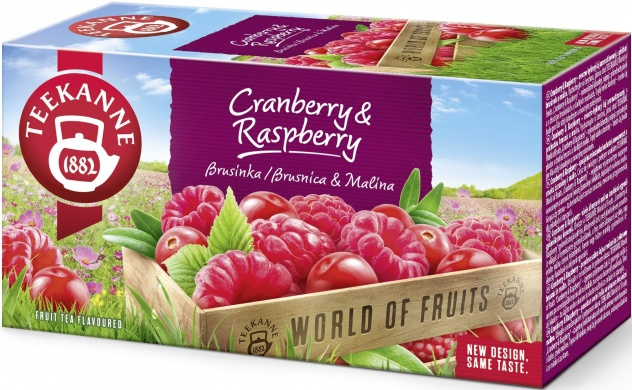 TEEKANNE World of Fruits Cranberry & Raspberry ovocno-bylinný čaj aromatizovaný 20x2,25g