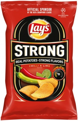 Lay's Strong chilli a limetky 150g