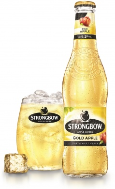 Strongbow Gold Apple (4,5%), sklo 0,33l