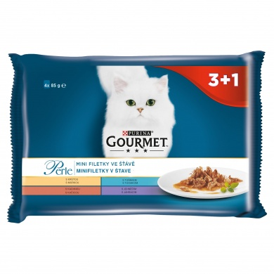 Gourmet Perle Multipack - mini filetky ve šťávě 4 x 85g