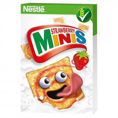 Nestlé Strawberry Minis cereálie 450 g