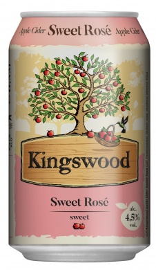 Kingswood Sweet Rosé 4,5%, plech 0,33l