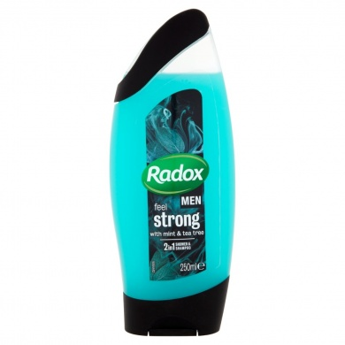 Radox Men Feel Strong 2v1 pánský sprchový gel a šampon 250ml