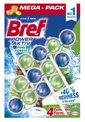 Bref Power Aktiv Pine WC blok 3x50g