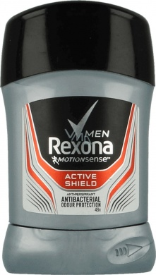 Rexona Men Active Shield tuhý antiperspirant pro muže 50ml