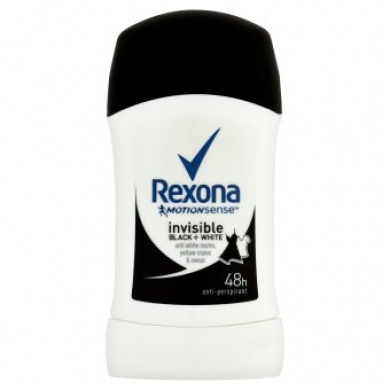 Rexona Invisible Black + White tuhý antiperspirant 40ml