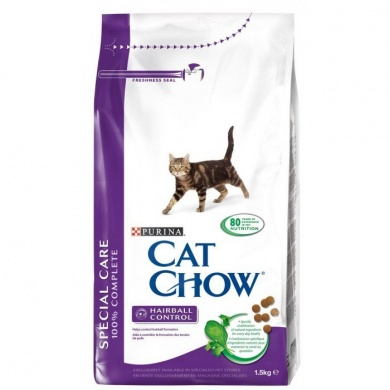 Cat Chow Special Care Hairball granule pro kočky 1,5kg