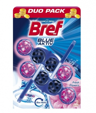 Bref Blue Aktiv Fresh Flower WC blok 2x50g