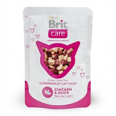 Brit Care Cat Chicken & Duck Pouch kapsička 80g