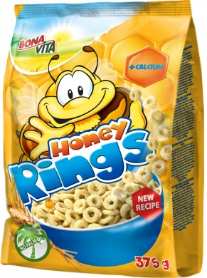 Bona Vita Honey rings medové kroužky 375g