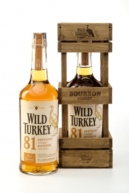 Wild Turkey 81 Bourbon Whisky Wooden Box 0,7l