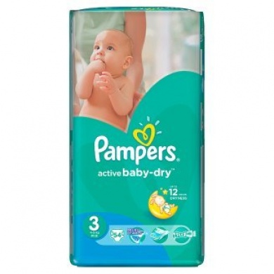 Pampers Active Baby Value Pack Minus S3 54ks