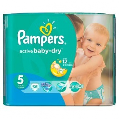 Pampers Active Baby Value Pack Minus S5 36ks