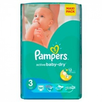 Pampers Active Baby Maxi Pack S3 68ks