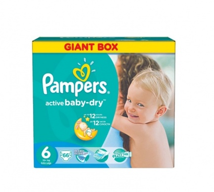 Pampers Active Baby Giant Box S6 66ks