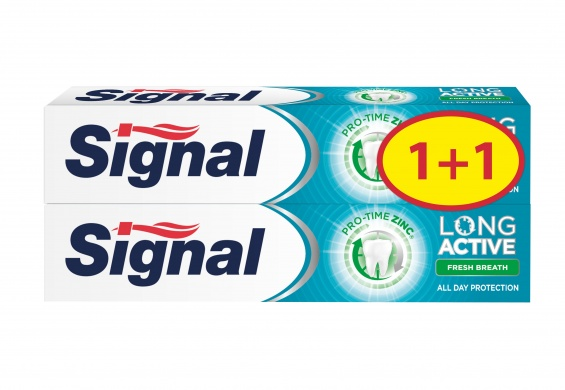 Signal Long Active Fresh Breath zubní pasta 1+1