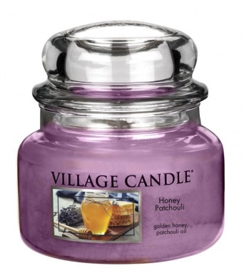 Village Candle Svíčka ve skle med a pačuli (honey patchouli), 269g