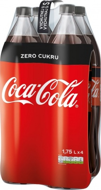 Coca-Cola Zero Multipack, PET 4x1,75l