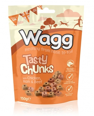 Wagg Tasty Chunks chicken & ham & beef 150g