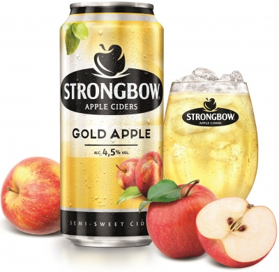 Strongbow Gold (4,5%), plech 0,44l
