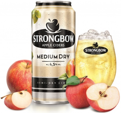 Strongbow Medium Dry (4,5%), plech 0,44l